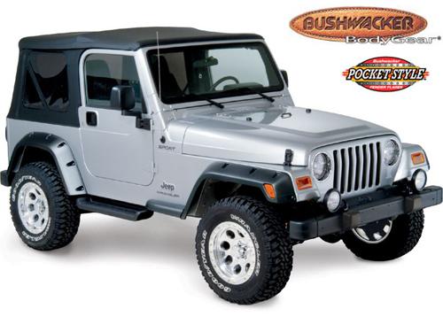 kotfl gelverbreiterung bushwacker jeep wrangler tj ebay. Black Bedroom Furniture Sets. Home Design Ideas