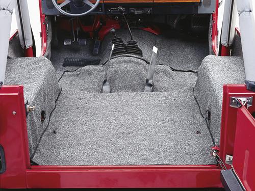 Teppichset grau Teppich Innenteppich Jeep Wrangler TJ 9606