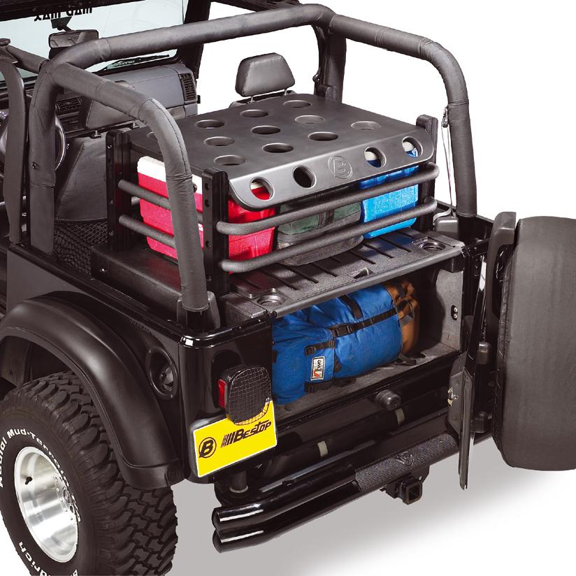 heckstaubox extendatrunk gage bestop jeep wrangler 06 ebay. Black Bedroom Furniture Sets. Home Design Ideas