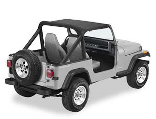 bikini top schwarz strapless verdeck jeep wrangler yj bj. Black Bedroom Furniture Sets. Home Design Ideas