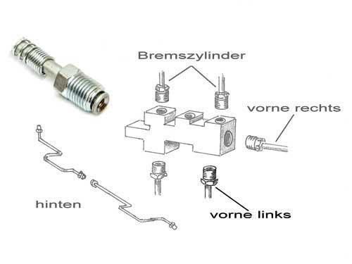 "Bremsleitung Bremse brake hinten rechts Ø 3//16/"" 4,8mm Jeep Wrangler TJ 96-02"