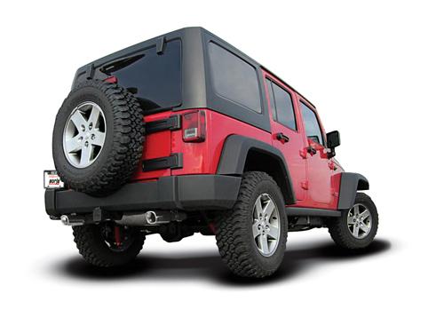 jeep borla auspuff auspufftopf sportauspuff edelstahl 2 8. Black Bedroom Furniture Sets. Home Design Ideas
