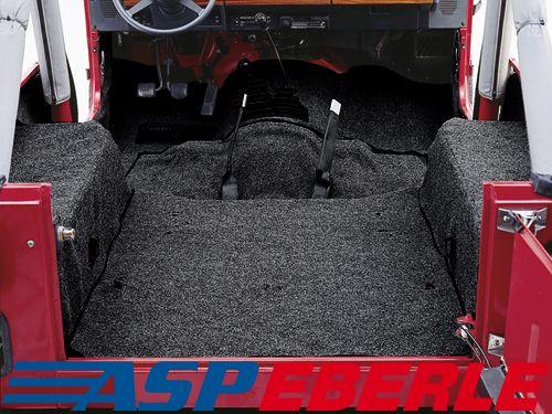 Teppichset schwarz Teppich Innenteppich Jeep Wrangler YJ