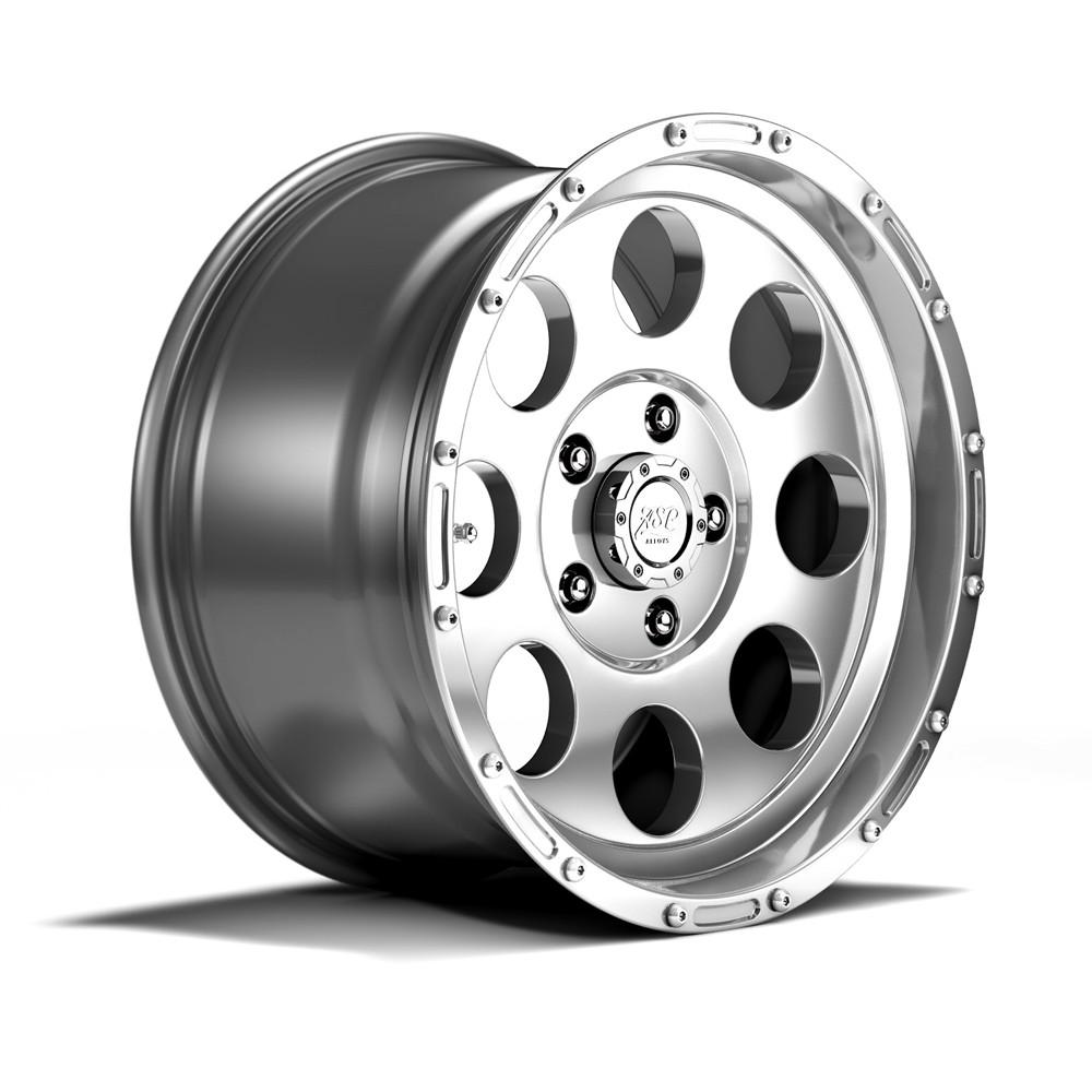 Asp Alloys Alloy Wheel Polished 9x17 Et 16 W O Tv Specification Ring Flat Baja M8 Eberle